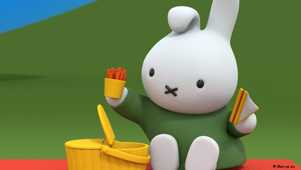 Carrot sticks?  Watch Miffy's Adventures on Tiny Pop at 6am and 7:30pm every day.