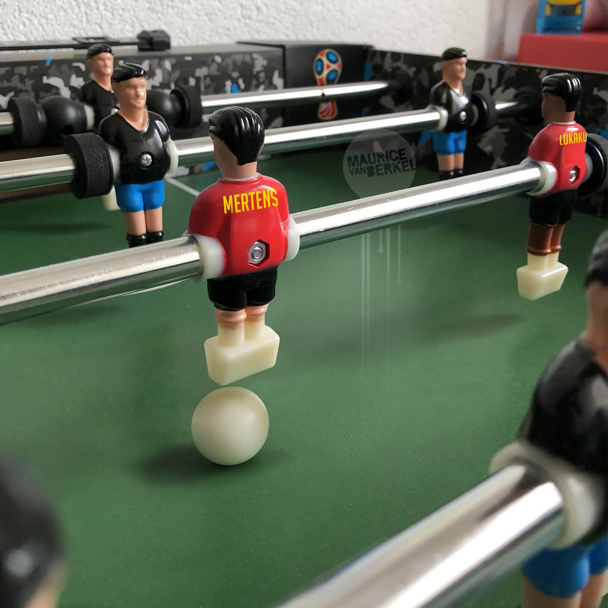 I just bought the Belgium WorldCup table football-set. Think they made it a bit too realistic. #belpan #worldcup