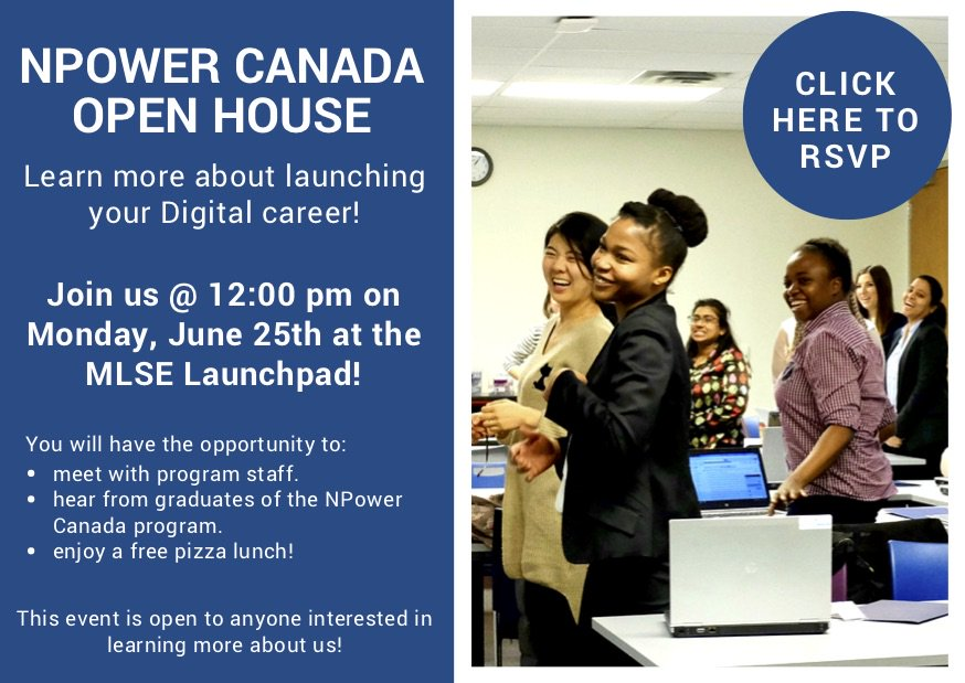 Npower Canada On Twitter We Re Hosting An Open House If You