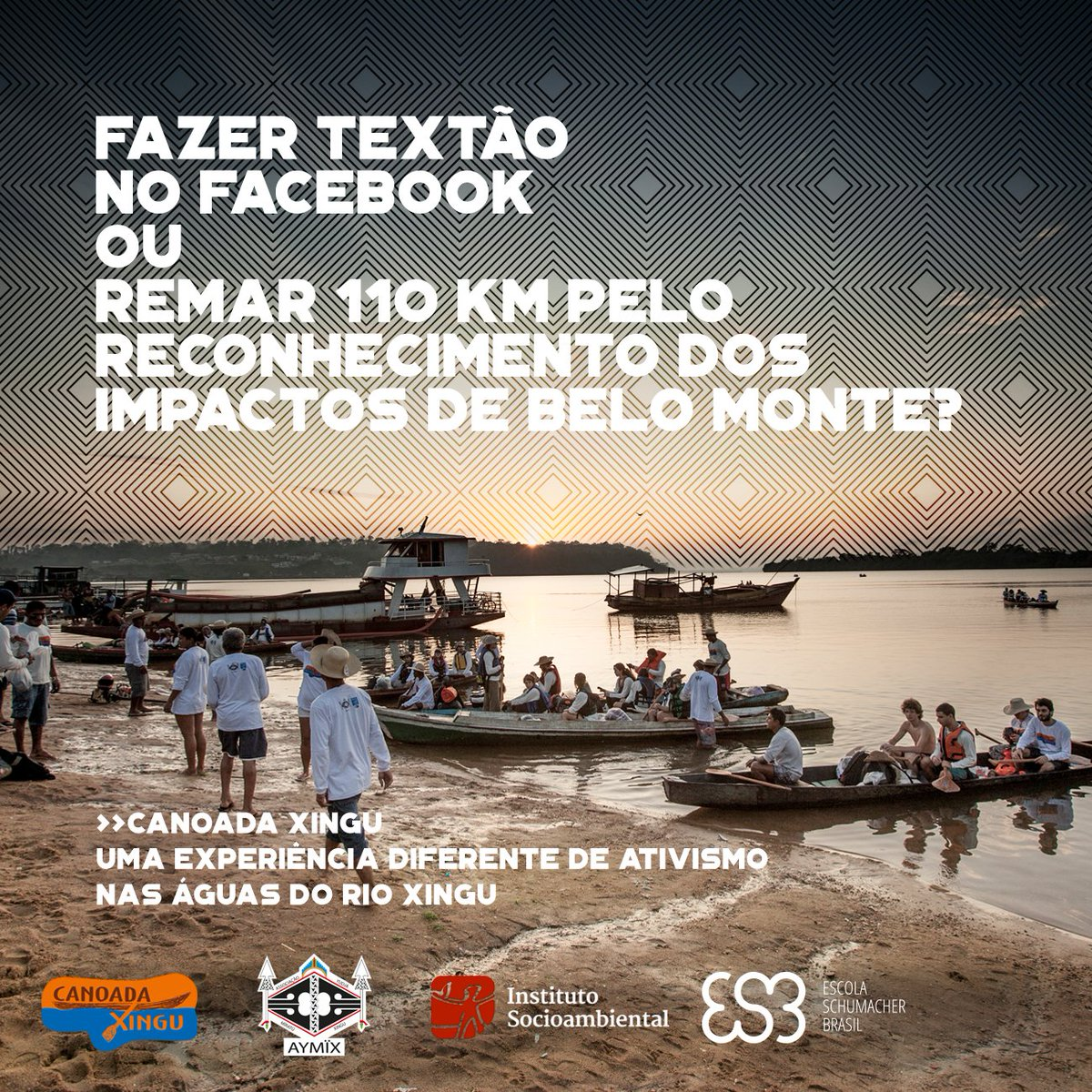 Venha fazer parte de uma experiência única de ativismo. Em setembro, vamos remar pelo rio Xingu, ver de perto Belo Monte, seus impactos e a luta das comunidades indígenas e ribeirinhas atingidas. Faça parte: aymix.org/canoada/ #CanoadaXingu2018