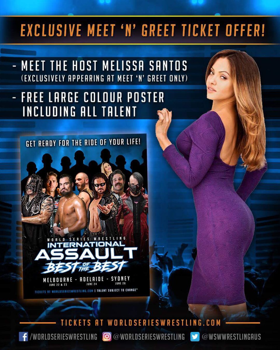Worldserieswrestling on twitter wswwrestlingaus international be sure to grab your ticket to the pre event meet and greet so you can meet all of the international superstars as well as tour host from luchaunderlat m4hsunfo