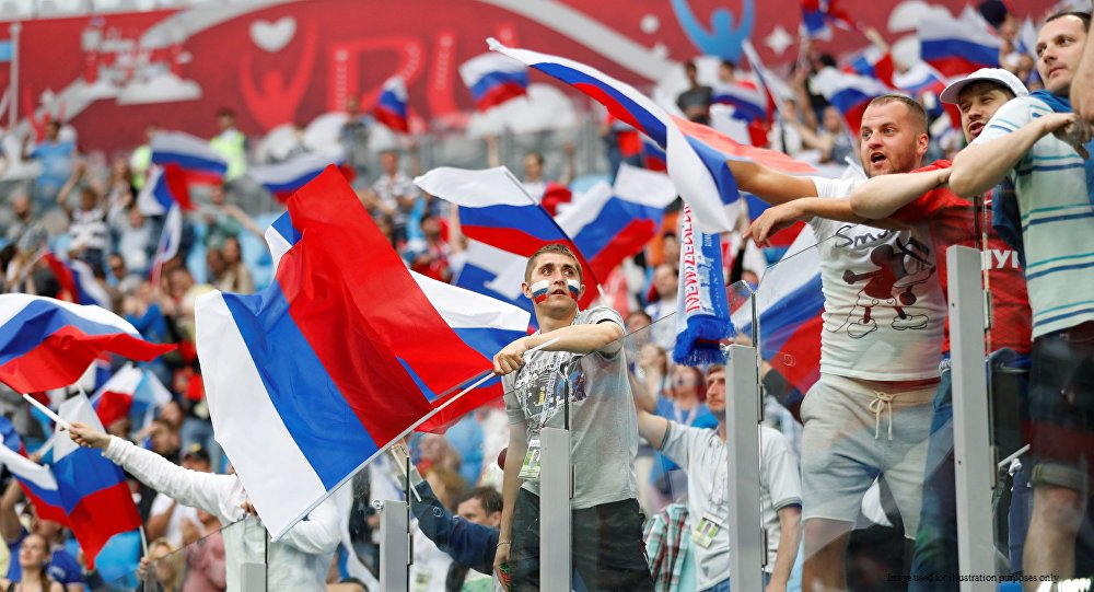 Receiving hundreds of requests for Russian flags from fans from around UK. Food for thought for British businesses (especially as we run out of stock)