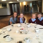Core 5 (minus one) at Rotary Club lunch! A light lunch before they give their speech!