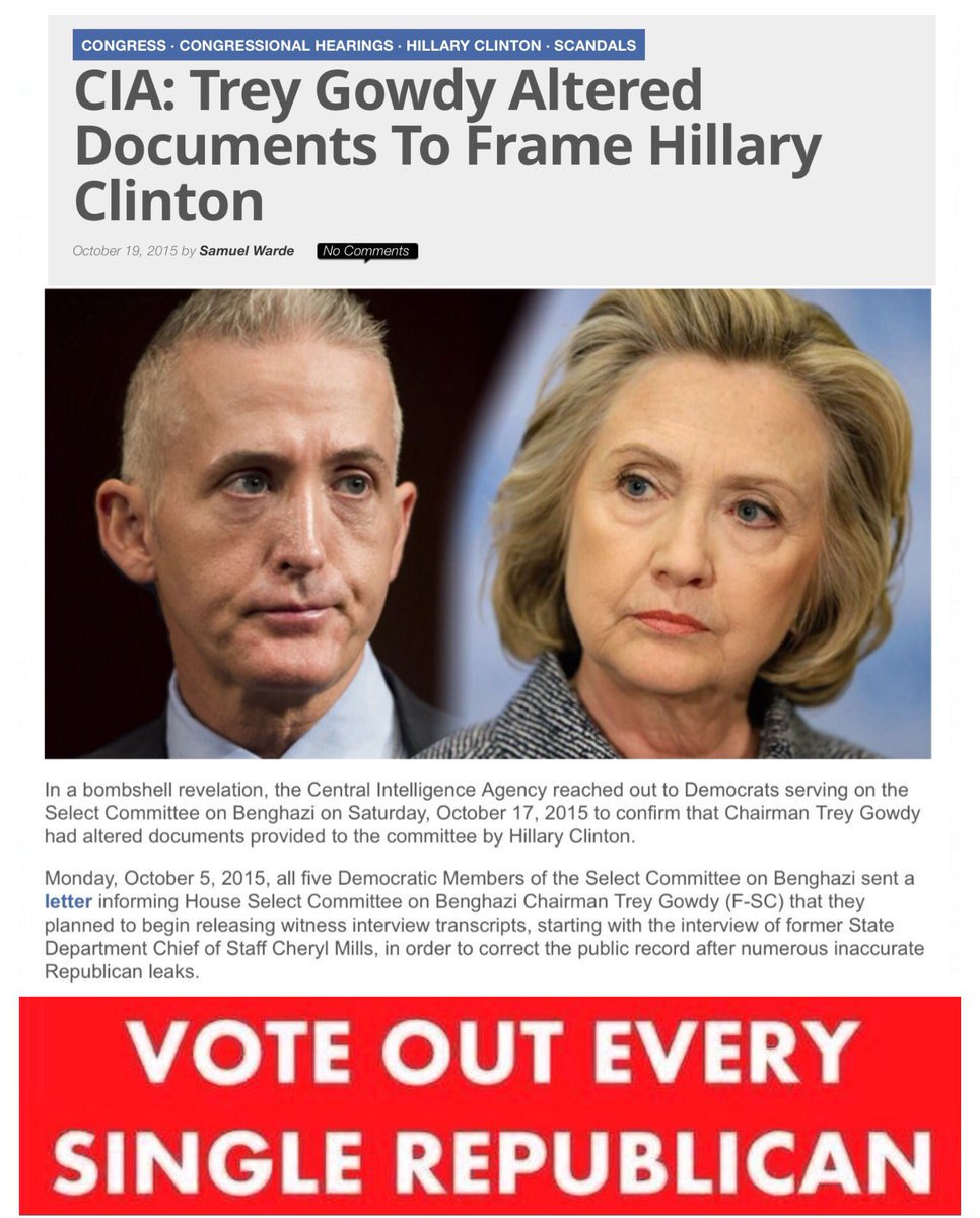 Did trey gowdy alter documents