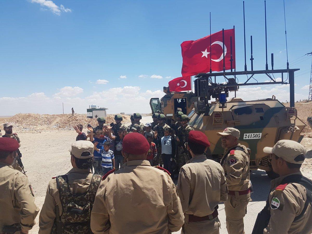 Очередная курдская зрада.Турецкие войска вошли в Манбидж