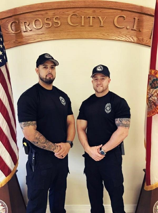 Sergeant David Suro and Sergeant James Hurst from Cross City CI participated in the 2018 First Responder Games in honor of fallen Gilchrist County Sheriff's Deputies Sergeant Noel Ramirez and Deputy Taylor Lindsey, who tragically lost their lives in the line of duty on April 19. <br>http://pic.twitter.com/nzGWDV557G