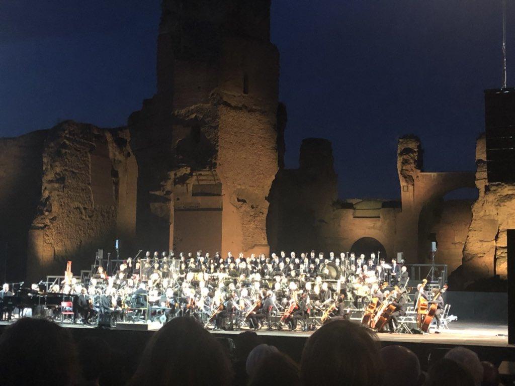 The incomparable Ennio Merricone... - Caracalla Theater in Rome. #AncientRome #AnticaRoma #Travel