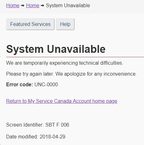 Service Canada On Twitter Hello Cpp And Oas Applications In My Service Canada Account Are Currently Unavailable We Re Working To Resolve This Issue We Apologize For The Inconvenience Https T Co G7fom6qmnp