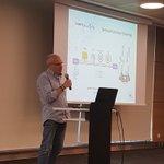 Image for the Tweet beginning: Panos Chatziadam presenting @VirtuWind 's