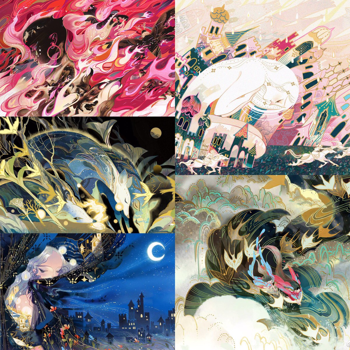 #illustrations Thoes illustrations form Stray Birds been selected into 3x3 annual no.15. Thanks to the judges~