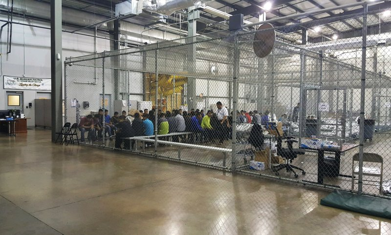 US officials release pics of facility where children separated from familes are held in cages, hours after Homeland Security director denies policy exists. Meantime, Trump tweets: 'Children are being used by some of the worst criminals on earth as a means to enter our country.'