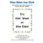 Image for the Tweet beginning: It's Kids Week at Glen
