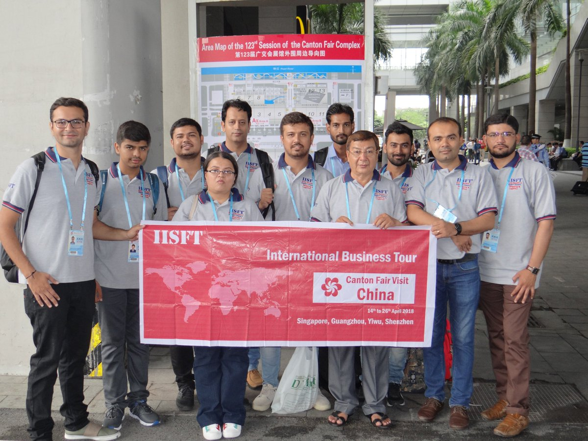 """@IISFT """"INTERNATIONAL STUDY TOUR TO CHINA"""" Visit to #CantonFair (#China #Import #Export #Fair) #IISFT #ImportExportCourse, #Gandhidham, #Gujarat, #ExportImportCourse #GovernmentApprovedShippingCourses #LogisticsSkillCouncil #LSC #LSCShippingCourses #ShippingCoursesLSC  #Gujarat https://t.co/nOkI5cCOSQ"""