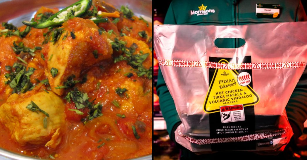 Morrison's has relaunched 'Volcanic Vindaloo', the hottest ever supermarket curry. ladbible.com/news/food-morr…