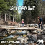 This week's #GreatManChallenge: Have dates with your little girl. When she has dates of her own, be aware. Meet the boy. Be awake when she comes home. Trust, but not too much. Be such a man in her life that it's hard for her to find a husband as good as you are! Laugh a lot.
