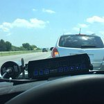 Image for the Tweet beginning: Indiana state trooper's tweet about