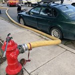 We all know parking can be a challenge, but blocking a hydrant can be a major obstacle for firefighters trying to secure a water supply at a fire. Luckily, our engineers have practiced this scenario and were able to work around this vehicle. Please watch where you park!