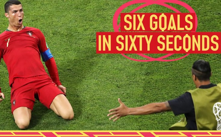#PORESP was 🔥!  Here are all six goals in sixty seconds.   📽 Enjoy 👉 https://t.co/pmgPqabsyz #bbcworldcup