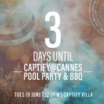 3 days to go! #CaptifyatCannes #CannesLions #canneslions2018 #Cannes