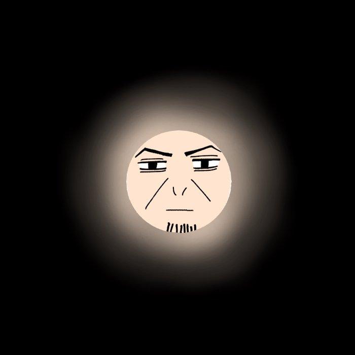 トイレットペーパーの芯を使って自撮りさせられ月になった軍曹
