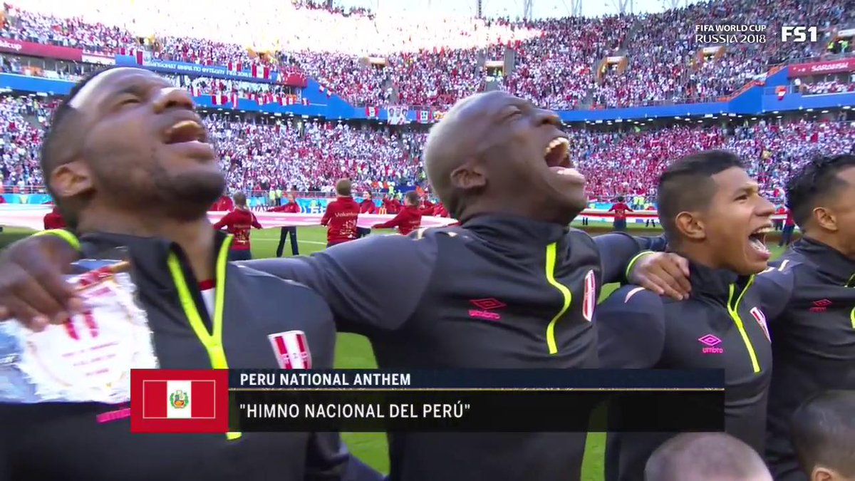 Peru waited 36 years to sing their national anthem on the world's biggest stage. 🇵🇪