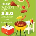 Image for the Tweet beginning: Father's Day BBQ! Sunday, 2-4pm Hospitality Patio #GlenEdenSunClub #NudeRecreation #FathersDay #NudistResort