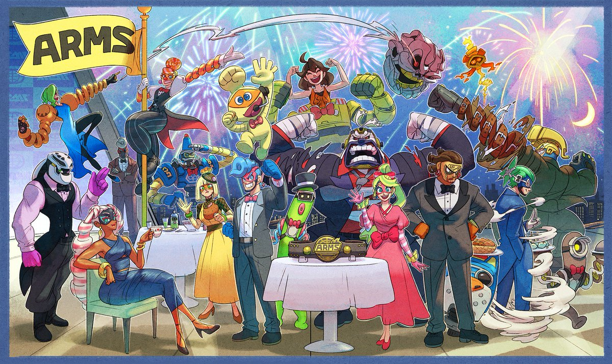 #ARMS is celebrating its first anniversary! The developers would like to extend a very special thank you to all the fans for your amazing support!