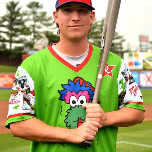"""Reading Fightin Phils on Twitter: """"For those curious, here are a few up  close shots of the @Phillies Phillie Phanatic Jersey we'll be wearing July  2nd! You can pre-order a jersey here:"""