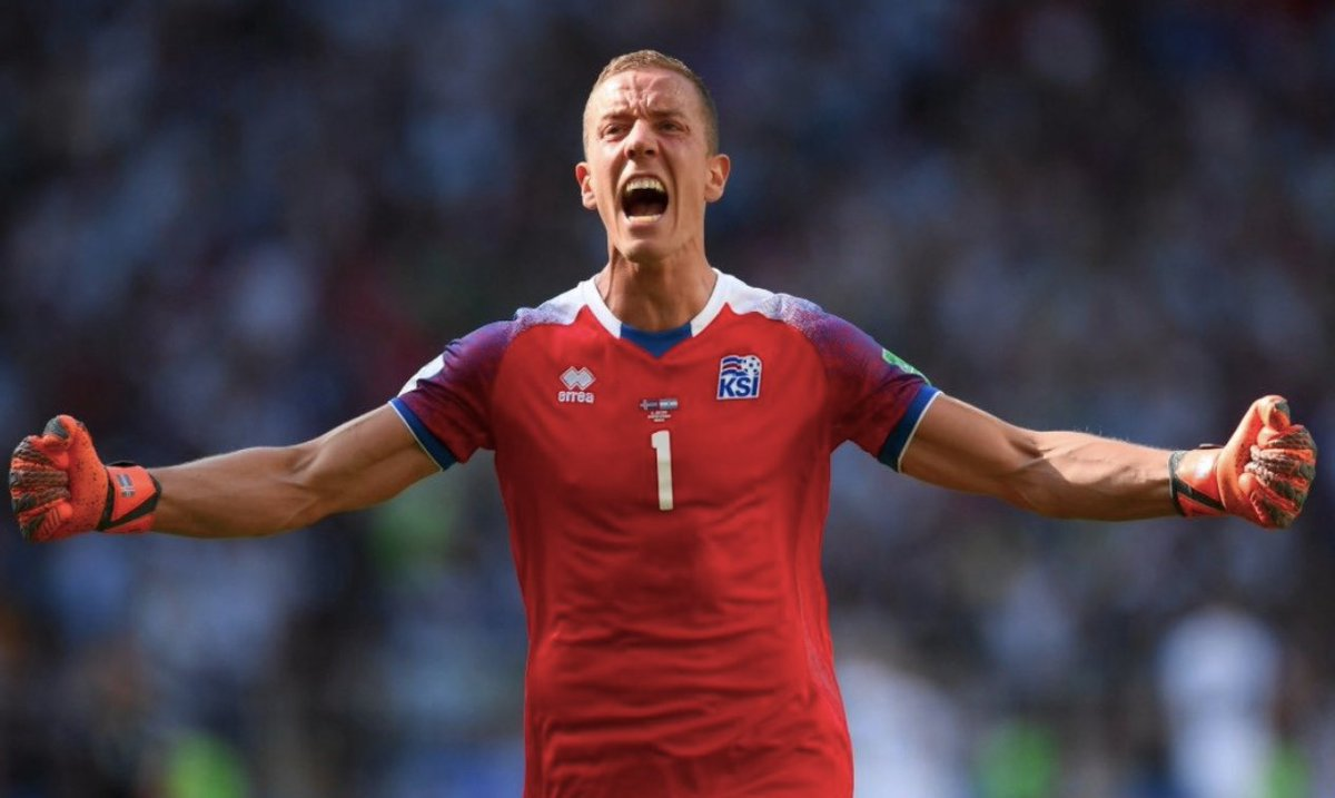 Hannes Þór Halldórsson: - Film Director - #WorldCup Debut - Saves a Lionel Messi penalty - Secures Iceland a point What. A. Performance.