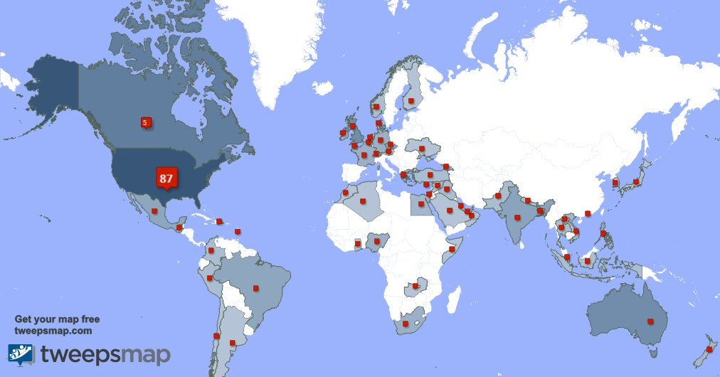 I have 28 new followers from USA, and more last week. See tweepsmap.com/!SylviaEllison