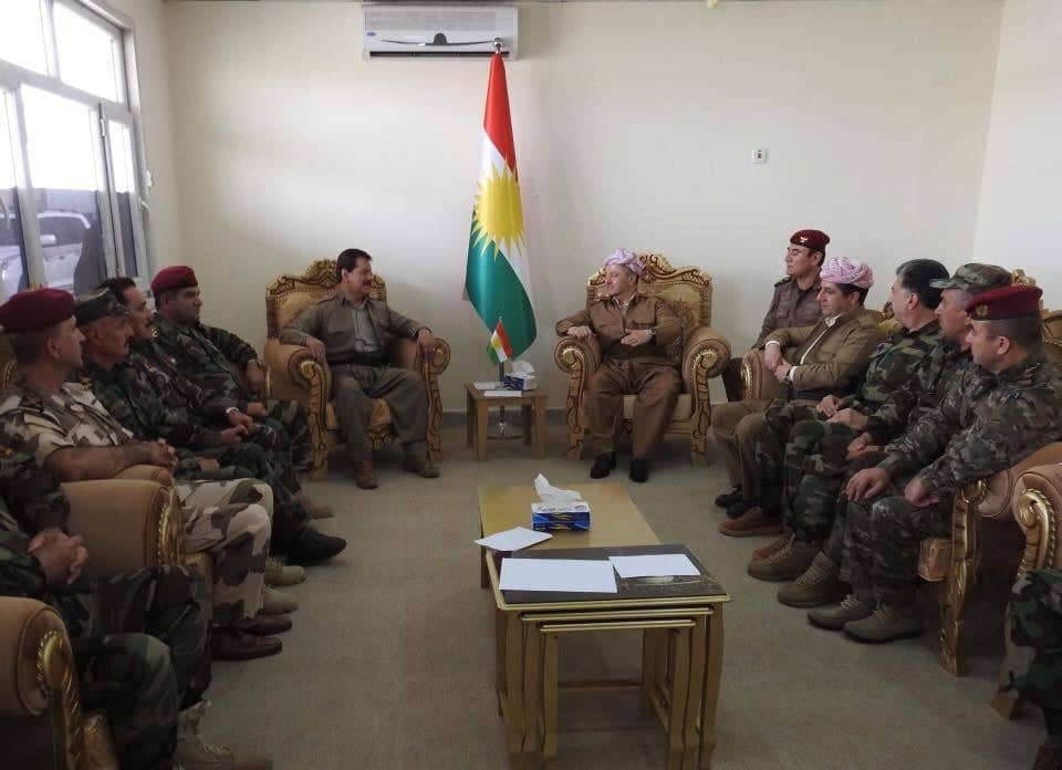 Visited the Peshmerga forces in Pirde, Kirkuk to celebrate Eid with them