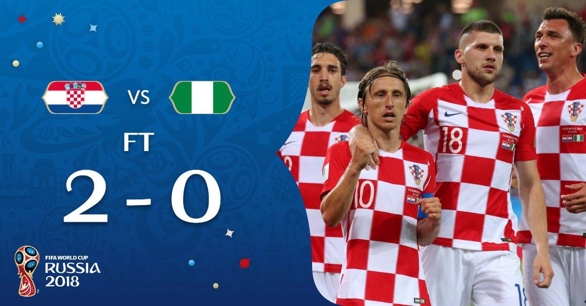 Xorvatiya g'alaba qozongan o'yinda Luka Modrich o'yinning eng yaxshi futbolchisi deb topildi