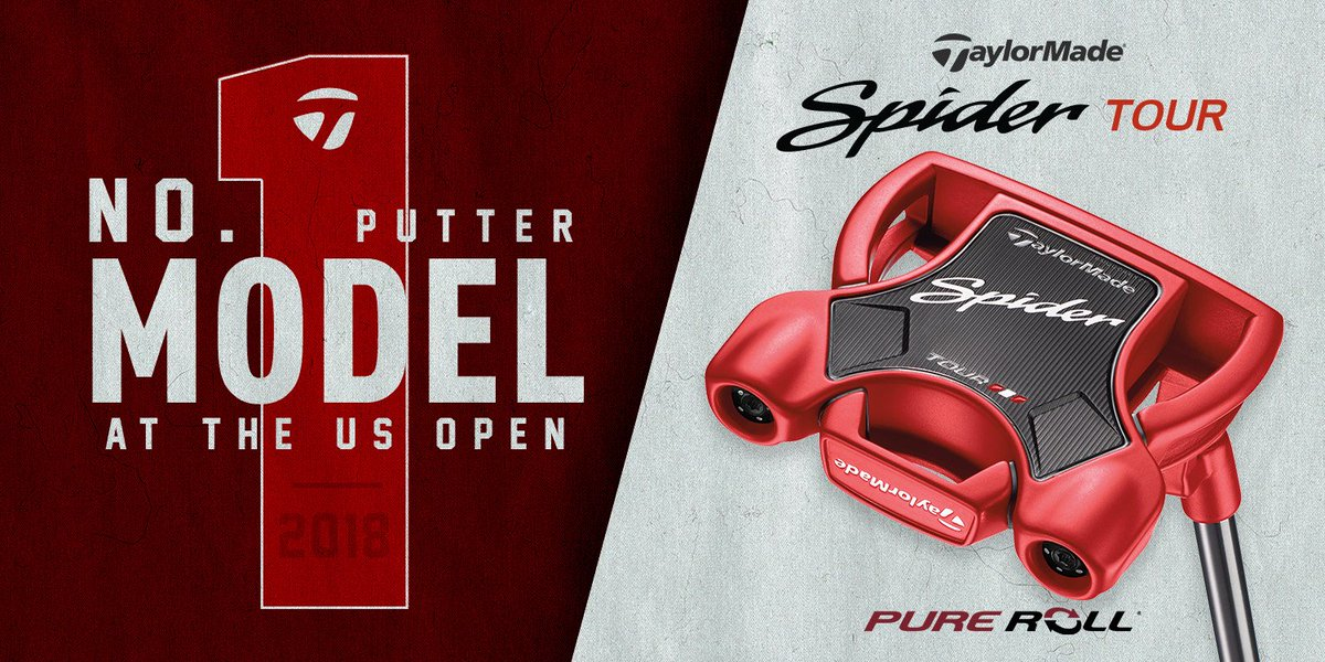 From Augusta to Shinnecock, #SpiderTour remains the putter model of choice on the game's greatest stages. #USOpen #PureRoll