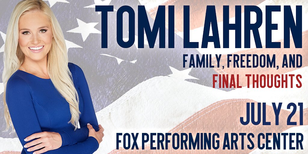 See you in SoCal! TomiLahrenLive.com