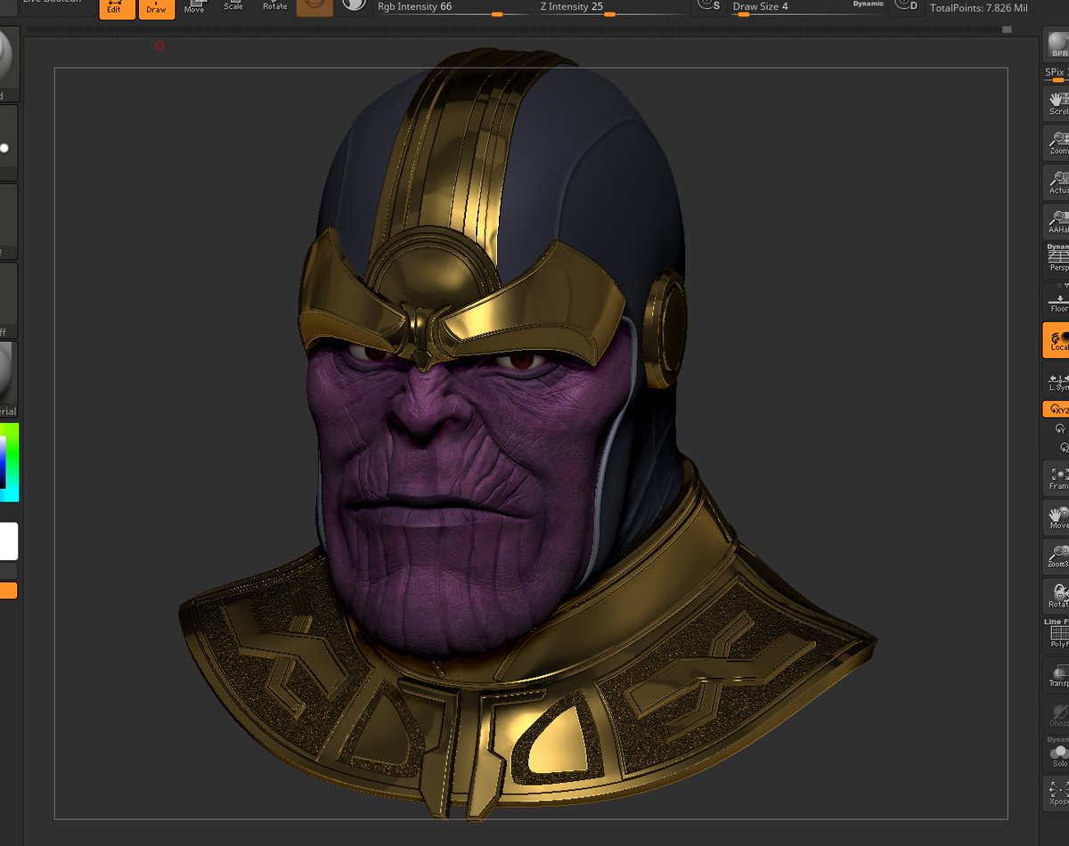 Will Sliney On Twitter Back Scultping More On The Thanos Model