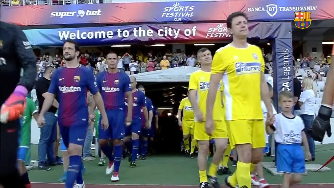[HIGHLIGHTS] �� Cluj ����  ⚽ Romania Legends v #BarçaLegends (0-2) https://t.co/YJSgflCKff