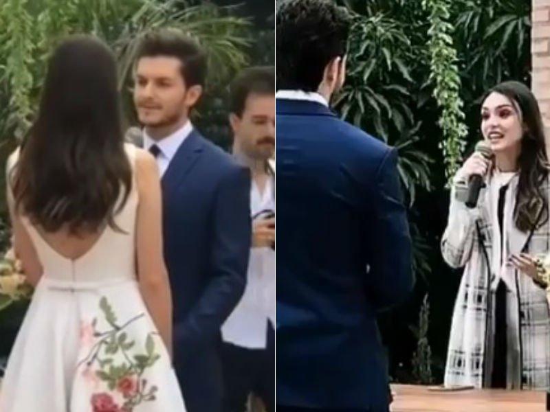 Camila Queiroz e Klébber Toledo se casam com bênçãos de Isabelle Drummond e ator emociona fãs com declaração: 'Desde a primeira vez que eu te vi, amor, tive certeza que era você' -> https://t.co/Jpowf4iMHZ