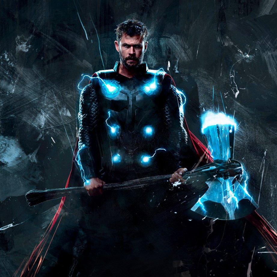 Aj designs on twitter official thor holding stormbreaker - Thor art wallpaper ...