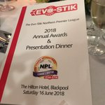 Looking forward to a fantastic evening at the 2018 @evostikleague Annual Awards & Presentation Dinner