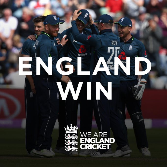 YESSSSS!!! We win by 38 runs!!! Scorecard/Videos: #ENGvAUS Photo