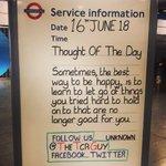#TheTCRGuy #TCRStation #TubeStation #TubeQuotes #TransportForLondon #TottenhamCourtRoad #TottenhamCourtRoadStation #TCR #TubeLife #LondonUnderground #Underground #NorthernLine #CentralLine #ThoughtOfTheDay #Thought #WeekEnd #Saturday #BeHappy #Learn #ToLetGo #Things #HoldOnTo