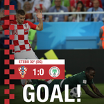 🇭🇷🆚🇳🇬 32' @MarioMandzukic9 header is deflected by Etebo into his own net as #Croatia takes the 1:0 lead! #BeProud #FlamingPride #CRONGA #Vatreni🔥 #WorldCup