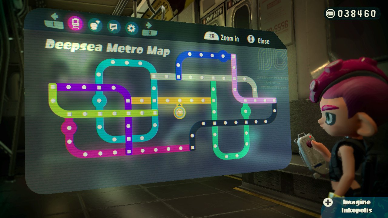 Can Someone Post A Picture Of The Complete Deepsea Metro Map Splatoon
