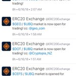 Image for the Tweet beginning: Lots of $UBQ market pairs