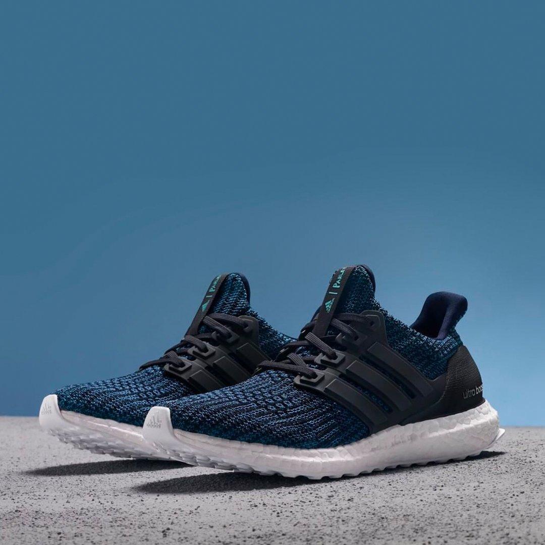 The adidas Ultra Boost 4.0 Parley in 'Deep Ocean Blue