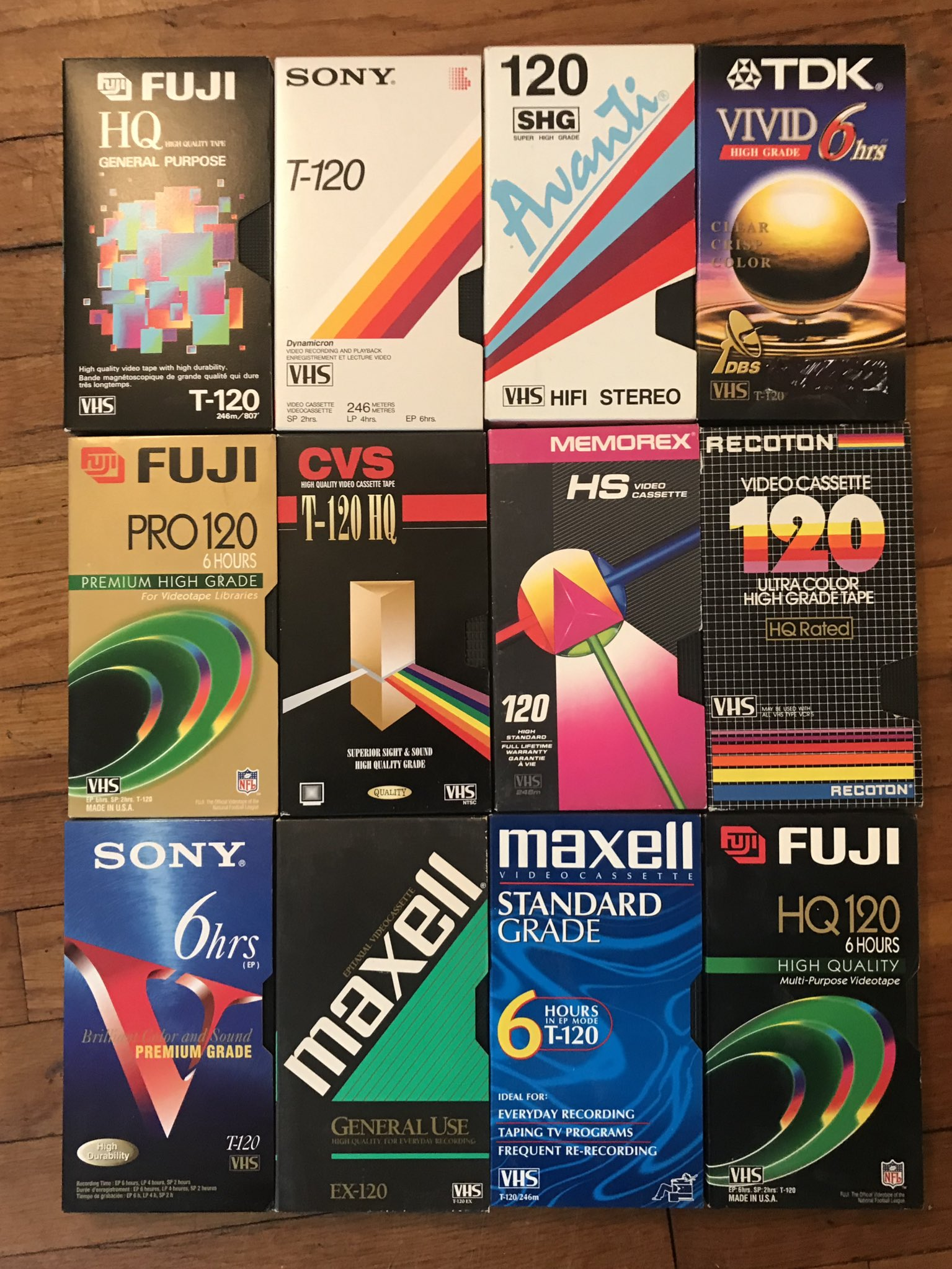 Let's all take a moment to appreciate blank VHS cassette packaging design trends. �� https://t.co/XnMeS9gsab