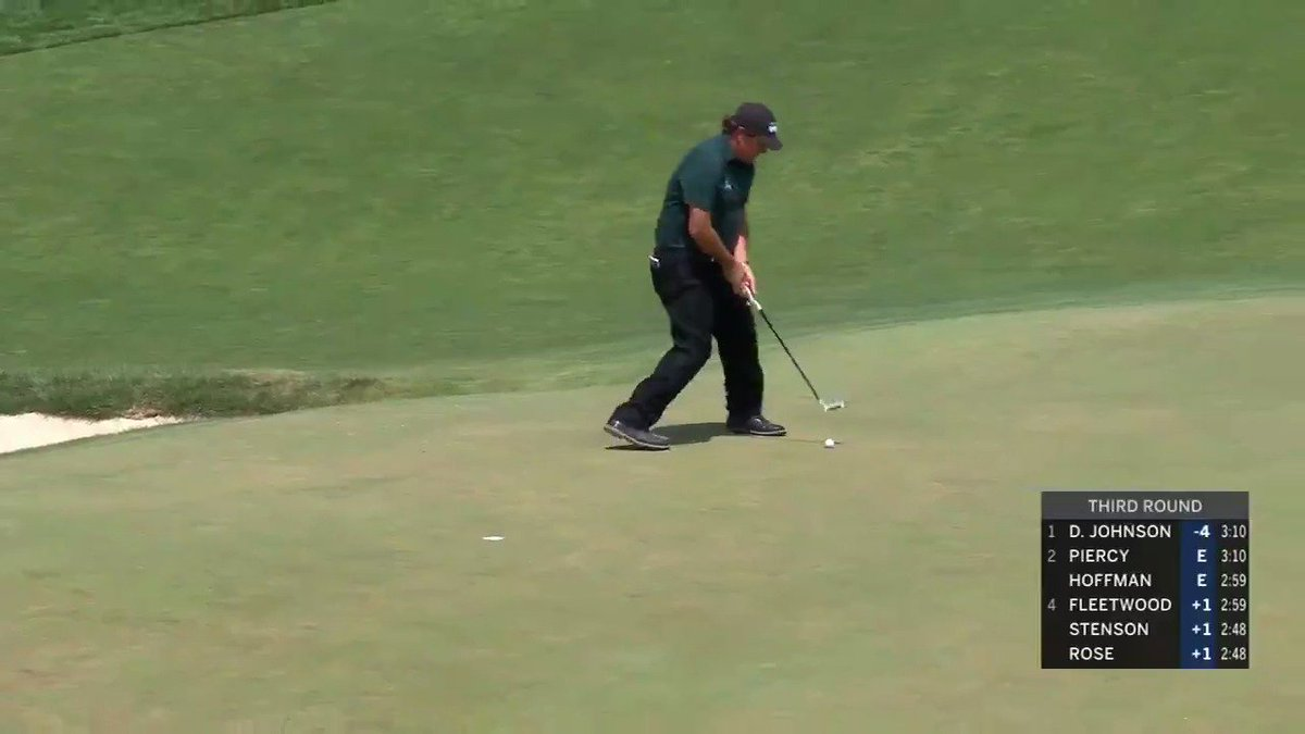 At that time I didnt feel like going back-and-forth and hitting the same shot over. I took the two-shot penalty and moved on... I dont mean any disrespect. Phil Mickelson on why he hit a moving ball on the 13th green at the #USOpen