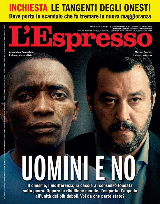 Comunicazione di servizio: Domenica 17 giugno il numero dell'Espresso chiuso in redazione nei  giorni scorsi, già stampato e distribuito, sarà regolarmente in edicola al prezzo di un euro