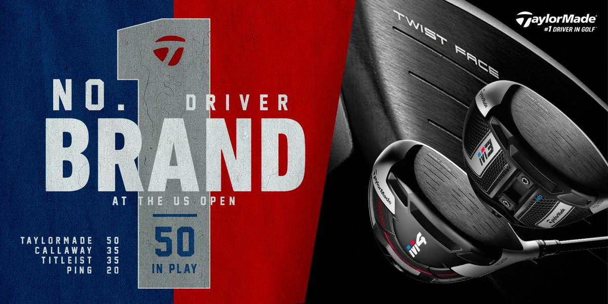 In the toughest test in golf, more players are teeing up a TaylorMade driver than any other brand. #1DriverinGolf #USOpen #TwistFace