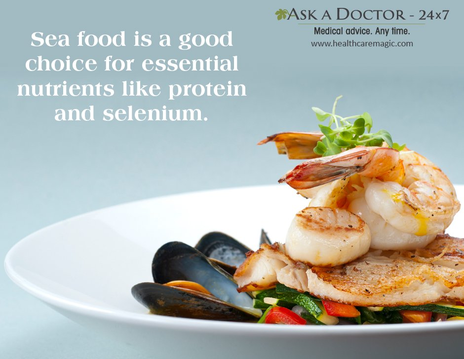 Largest Health Q&A site.  Ask a Doctor Online at      https://t.co/TwirbOpRi1 #seafoods #goodchoice #nutrients #protein#selenium#AskADoctor#DailyHealthTips#HealthcareMagic